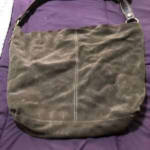 Lucky Brand Vintage Large Brown Suede Bag